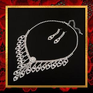 New Rhinestone  Necklace & Earrings Set  #706